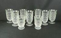"9 Vintage Fostoria ""American"" Footed Juice Glasses / 7-5-1/2""H / 2-4""H"