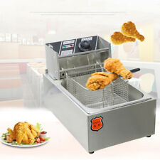 Commercial Fryer 220V Stainless 6L Single Table Top Fry Basket Deep Fryers
