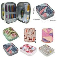 Portable Crochet Needles Knitting Storage Bag Hook Yarn Thread Case Organizer