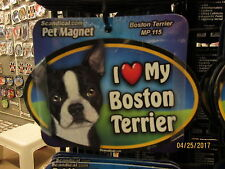 I Love My Boston Terrier 6 inch oval magnet for car or anything metal New
