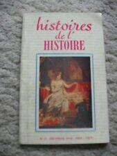 Histoires de l'histoire. Revue mensuelle.  No.11,  Decembre 1959