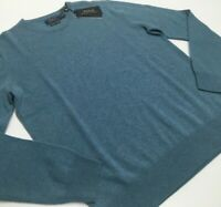 Polo Ralph Lauren 100% Cashmere Soft Luxury Pullover Washable Knit Sweater Blue