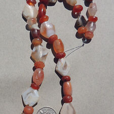 a 16.5 inch 42 cm strand ancient agate stone beads mali #3921