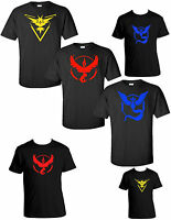 Pokemon T-Shirt Go Team Valor Mystic Instinct Pokeball Tee shirt