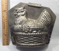 1930's Vintage Antique Original German Chocolate Mold-Hen On A Nest