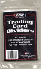 10 White Plastic Trading Card Dividers Great for Storage and Sorting BCWSupplies