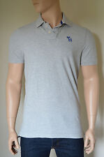 New abercrombie & fitch mount marshall polo shirt gris clair moose xl rrp £ 72