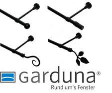 GARDUNA Gardinenstange, Metall, schwarz, Ø 16 mm - 100-400cm (Ohne Ringe)