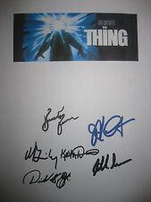 The Thing Signed Movie Script Kurt Russell John Carpenter Brimley Masur reprint