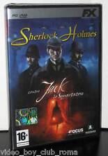 SHERLOCK HOLMES CONTRO JACK LO SQUARTATORE GIOCO NUOVO PC DVD  EDIZIONE ITALIANA