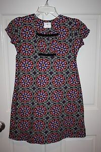 NWT Girls Hanna Andersson Multi-Color Short-Sleeve Dress Size 140 / 9-11 years
