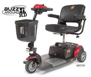 Golden Buzzaround XL-HD 3 Wheel Heavy Duty Portable Electric Scooter GB117H NEW!