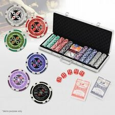 NEW Professional Quality, Durable 500 Pcs Chip Poker Game Set In Aluminium Case