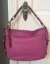 Coach Orchid Pink Purple Cowhide Leather Zoe Hobo Tote Bag 12671 MINT RARE! $428