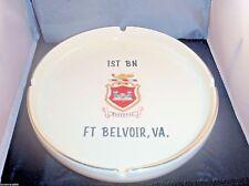 1st BN Ft. Belvoir VA Eassyons US Army Corp Engineers Ceramic Ashtray Bill's Mug