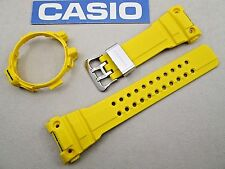 Casio G-Shock Gulfmaster GWN-1000 watch band & bezel set yellow resin rubber
