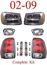 02 09 Trailblazer 6Pc Head, Fog & Tail Light Assembly, Chevy SUV, New In Box