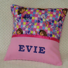 DORA THE EXPLORER Child's/Girls Personalised Character Cushion Cover / GIFT IDEA