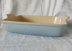 LE CREUSET LARGE BLUE RECTANGULAR OVEN/BAKING DISH