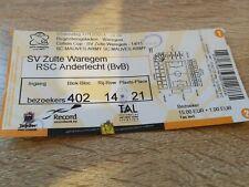 Ticket  Zulte Waregem Anderlecht Coupe de Belgique 2014