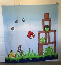Angry Birds & Pigs (Rovio) Microfiber Fabric Bath Shower Curtain Bathroom Decor