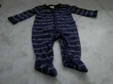 Baby Boy 0-3 Months Gymboree Blue Snap Up Footed Little Crawler Hand Cvr Sleeper