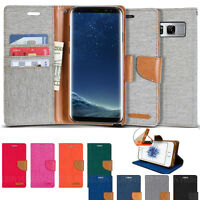 GOOSPERY Shock Resistant Slim Flip Leather Wallet Case for Galaxy S20+,iPhone 11