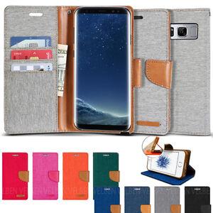 GOOSPERY Shock Resistant Slim Flip Leather Wallet Case for Galaxy S20+,iPhone 11