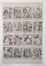 Gravure XIXème - Imagerie Populaire - Histoire d'un Quincailler - Épinal
