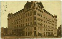 1900's 1910's Sacramento Hotel California Sepia Car Buggy Street View Postcard