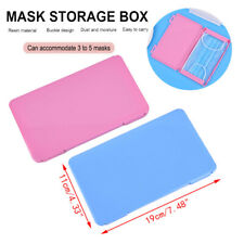 Portable Carry Box Plastic Travel Mask Case Face Shield Holder Storage Organizer