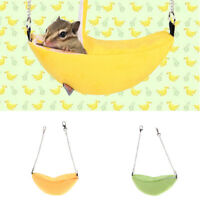 2x Banana Hammock Hanging Bunk Bed House For Sugar Glider Hamster Small Bird Pet