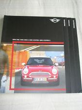 Mini One, One D, Cooper & Cooper S range brochure 2003 Italian text