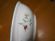 """Pfaltzgraff USA WINTERBERRY Set of 5 Soup Cereal Bowls 6"""" Green Holly A"""