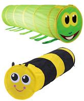 Set Dos Plegable Juego Gatear Túneles Abejorro & Caterpillar Niños de Jardín
