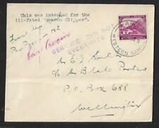 SAMOA TO NEW ZEALAND AIR MAIL CRASHED SAMOAN CLIPPER COVER 1933