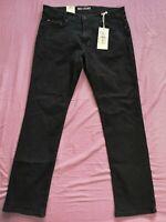 MAC Men's Blue Black MACFLEXX Modern Fit Straight Leg Jeans New With Tags