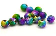 20 PERLE STARDUST Arc En Ciel 8mm Mixte Creation Bijoux, bracelet. Multicolore