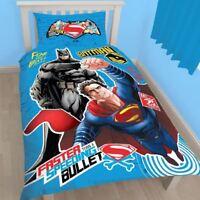 BATMAN VS SUPERMAN CLASH SINGLE PANEL DUVET SET QUILT COVER DC COMICS BEDDING