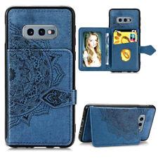 For Samsung Note 10 Plus S10+ Card Holder Flip Magnetic Back Wallet Case Cover