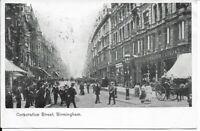 Corporation Street - BIRMINGHAM - 1904 Real Photo Postcard (212d)