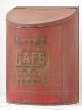 GRANDE BOITE A (GRAINS DE) CAFE EN TOLE 66CM DE HAUT 1930-1940-1950 VINTAGE