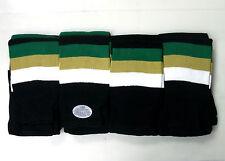 """New hockey socks team set 20 junior kid's black gold green 24"""" knit polyester"""