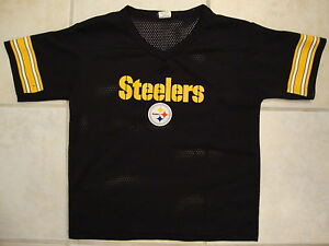 NFL Pittsburgh Steelers National Football League Fan Black Jersey Kids M