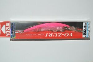 """yo zuri crystal 3d minnow floating jointed deep diver 4 1/8"""" f1159-pk pink"""