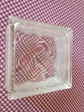 One Square Clear Glass Block Wave Pattern Window Building Decor Brick