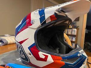 Troy Lee Designs Air Helmet Motocross Red/White/Blue XL