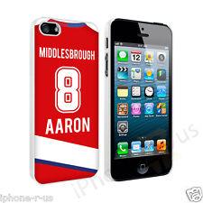 Personalizado nombre y número de Middlesbrough Fútbol caso para Apple iPhone SE