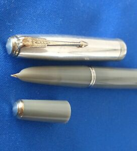 1941 1st Year Parker 51 Grey Double Jewel Vacumatic Sterling Silver Cap RESTORED