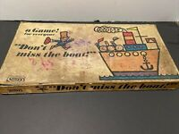 """Vintage 1965 Parker Brother's board game """"Don't Miss The Boat"""" Complete Rough"""